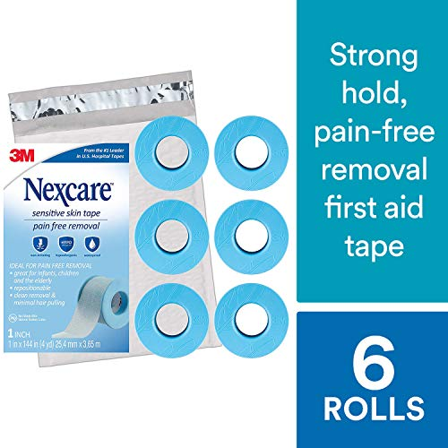 Nexcare Sensititive Skin Tape SIOC, From the #1 Leader in U.S. Hospital Tapes, Ideal for Those with Fragile or Sensitive Skin, Long Term Adhesion, 1
