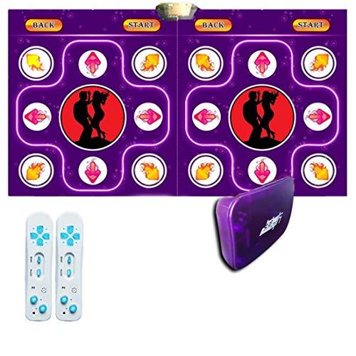 Skiout Wireless Double Dance Mats with Gamepad Dancing Blanket Dance Music Mixer Electronic Musical Play Mat for Adults/Children Tv Computer,A