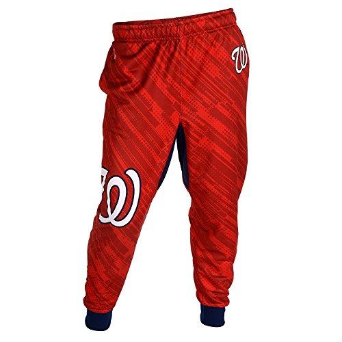 Washington Nationals MLB Baseball Mens Cuffed Jogger Pants, Red (XX-Large)