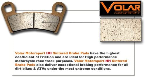 Volar Sintered HH Front /& Rear Brake Pads for 2007-2016 Suzuki Vstrom 650 DL650 ABS