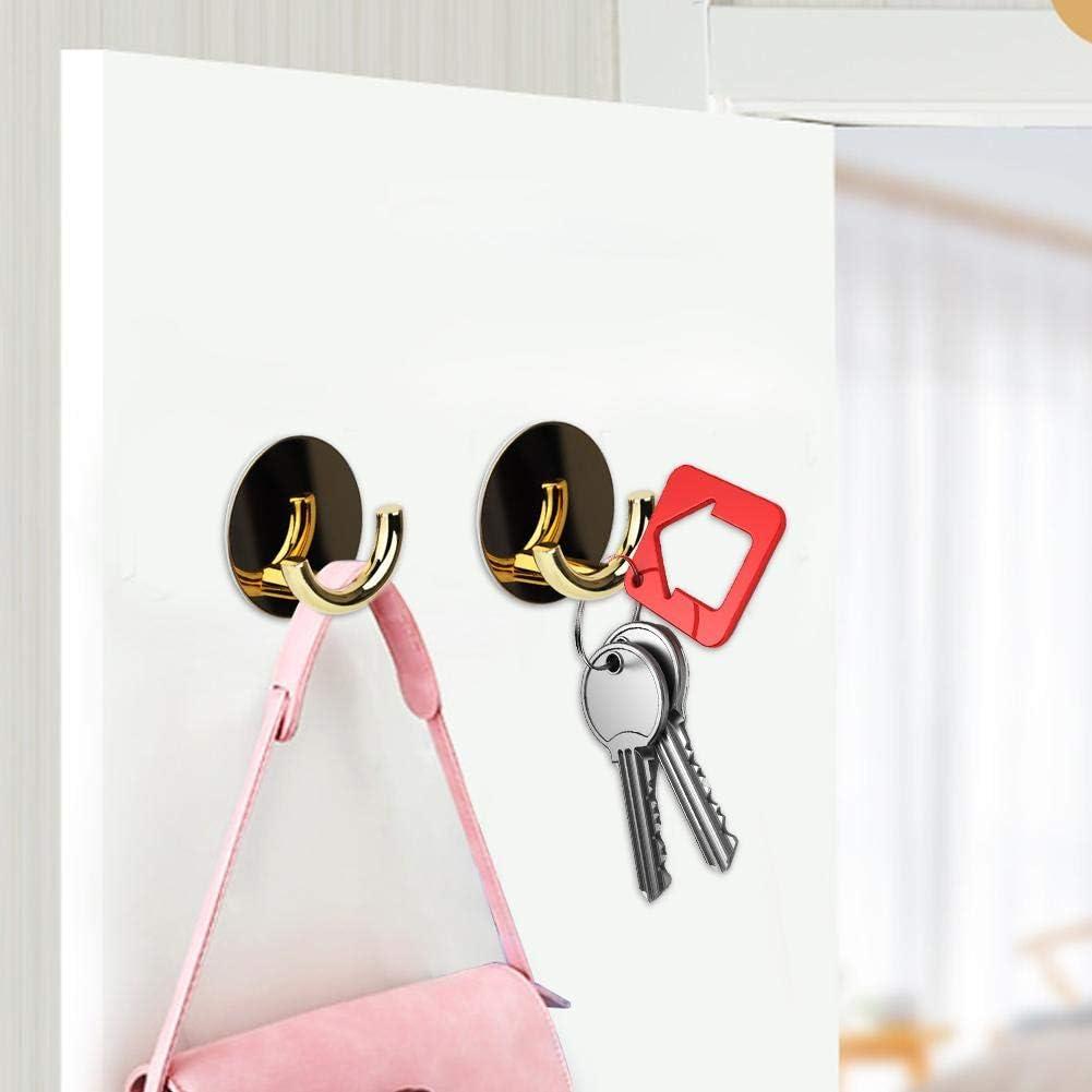 Oro Mumusuki Appendiabiti Minimalista Nordico Parete Acciaio Inossidabile Gancio Adesivo Lega di Zinco per la Parete Porta Bagno Cucina