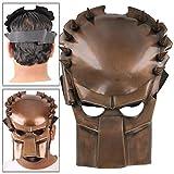 Antiqued Copper Finish Steel Fantasy Predator Armor Battle Mask
