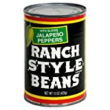 Ranch Style Beans with Sliced Jalapeno Peppers 15 Ounce - 3 Pack
