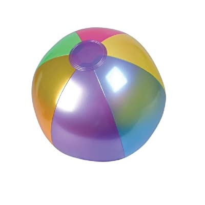 "Rhode Island Novelty (INMBB18) Metallic Beach Balls Swimming Pool Toys 18"" Multi-Color (12 Pack): Toys & Games"