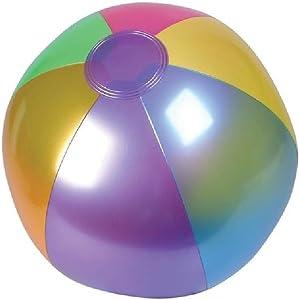 "Rhode Island Novelty (INMBB18) Metallic Beach Balls Swimming Pool Toys 18"" Multi-Color (12 Pack)"