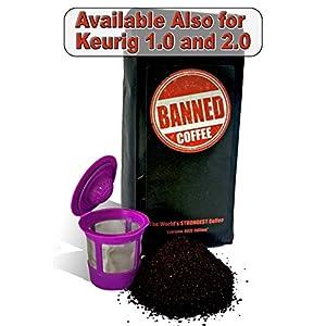 Banned Coffee Ground World's Strongest Coffee - Our Best Medium Dark Roast 12 oz