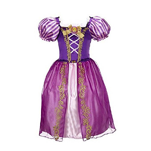 Rapunzel Dress Kids Girl Halloween Costume 3T-12 USA (9-10 (140cm))