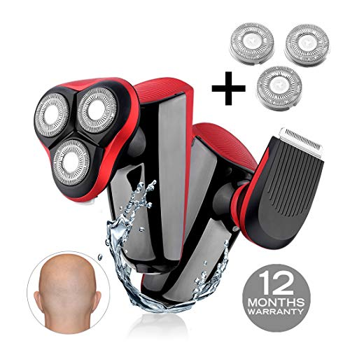 WMARK 3D Electric Shaver Head shaver Beard Trimmers Hair Clippers USB Rechargeable Razor 3 blade Shavers Washable Shaving Machine