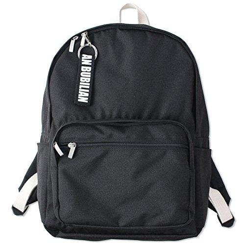 Bubilian BTBB Backpack/Korean Street Brand/School Bag/Travel Bag (Black)