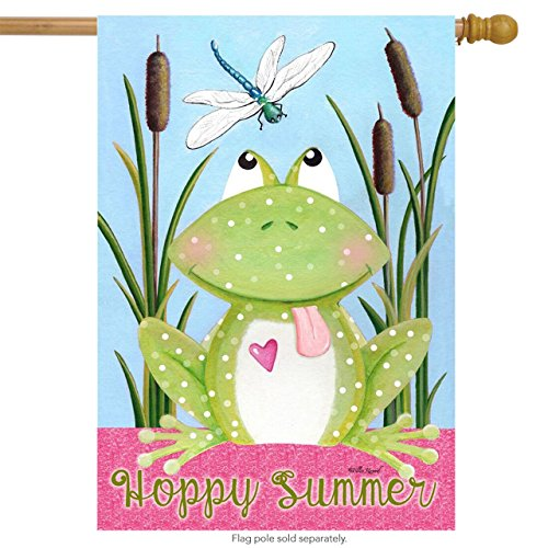 me to My Pad Summer House Flag Frog Hoppy Summer 28