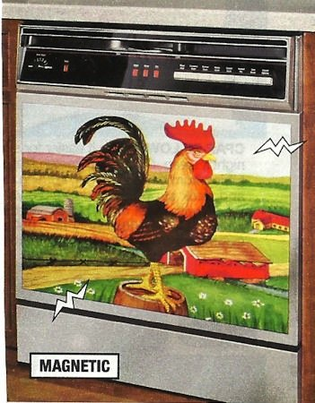 DECORATIVE ROOSTER APPLIANCE MAGNET