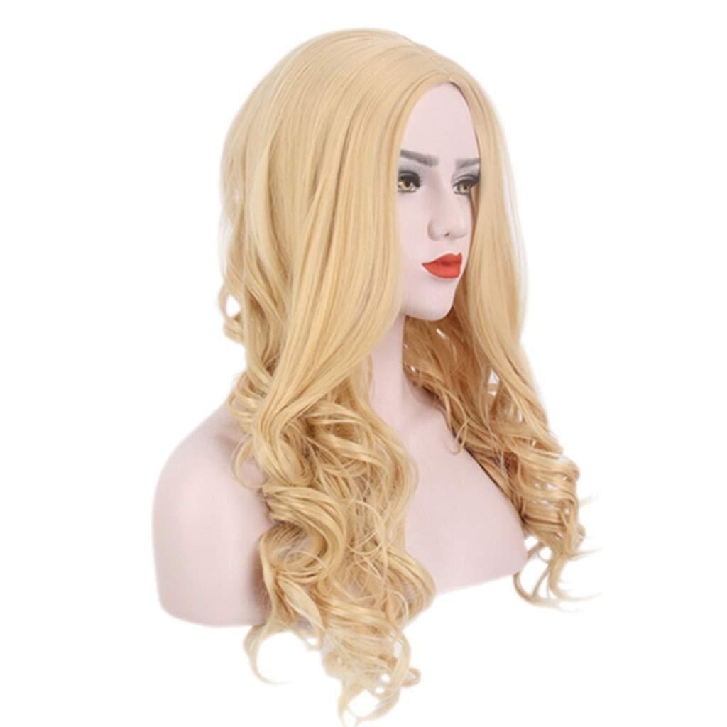 clásico atemporal Peluca de dama Peluca de de de oro europea y americana Peluca larga y rizada Peluca de moda sexy oro  hasta un 60% de descuento