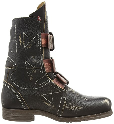 Fly London Stif, Botas Biker Para Mujer Negro (Black 000)