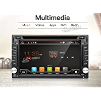 2G 32G Quad 4 Core 6.2 inch 2 Din Android 6.0 Car Stereo Radio Muti-touch Screen GPS Navigation DVD Player Support 3G WIFI Bluetooth OBD2 Mirror Link with Backup Camera