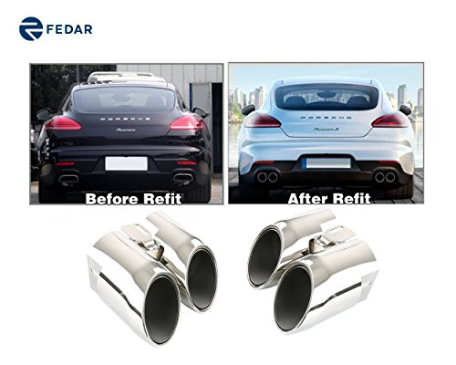 (Fedar Fits 2014-2016 Porsche Panamera 4S/Turbo Stainless Steel Exhaust Pipe/Tip)