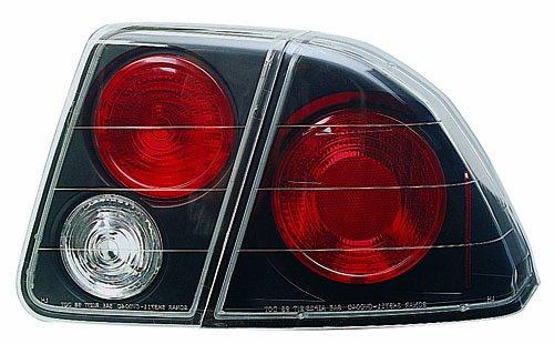 4 Piece Black Tail - IPCW CWT-735B2 Honda Civic 4-Door Bermuda Black Tail Lamp with Crystal Eyes - 4 Piece