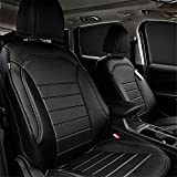 ford escape headrest - Bwen zd31922w Ford seat Covers Custom Fit Seat Covers Fit for Ford Escape Kuga 2017,Black Leather Auto Seat Covers for SUV Full Set 4pcs Saddle Cover,4pcs Back Cover,5pcs Headrest Covers
