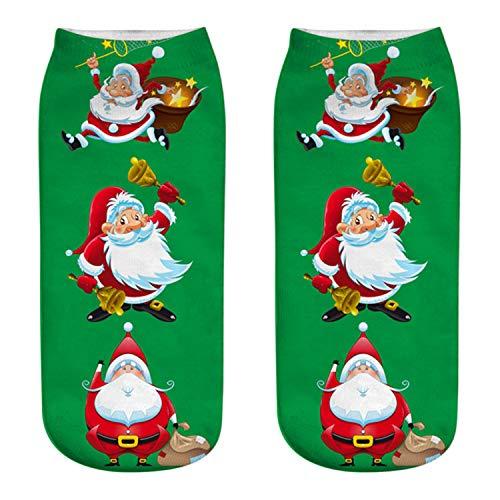 Mydufish Christmas Socks Women 3D Socks New Year Gift Kawaii Calcetines Femme Girls Cute