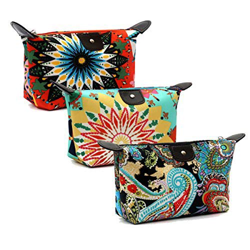 b72f64774d84 HOYOFO Women's Travel Cosmetic Bags Small Makeup Clutch Pouch Cosmetic and  Toiletries Organizer Bag