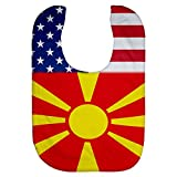 Microfiber Baby Bib - Flag of Macedonia