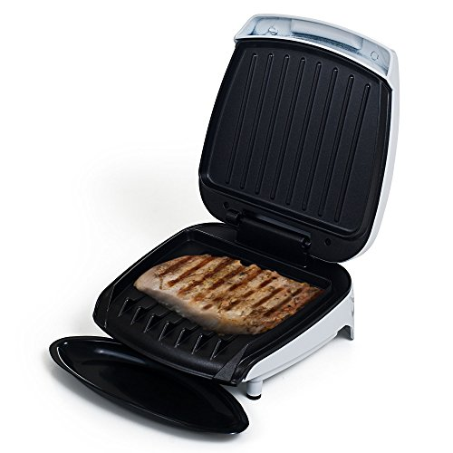Electric Indoor Grill With Nonstick Plates for Low Fat Healthy Cooking and Grilling By Chef Buddy by Chef Buddy
