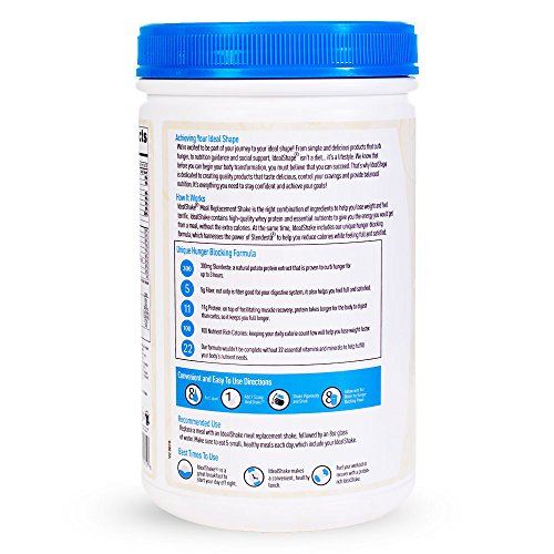 IdealShake Meal Replacement Shakes |11-12g of Healthy Whey Protein Blend | Promotes Weight Loss | 22 Essential Vitamins & Minerals | 5g of Fiber | Vanilla | 30 Servings