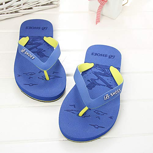 Summer Men Anti-Skidding Sandals Slipper Beach Shoes Blue by Sunsee (Image #7)