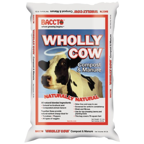Michigan Peat 1640 Wholly Cow Compost and Manure, 40-Quart Manure Compost