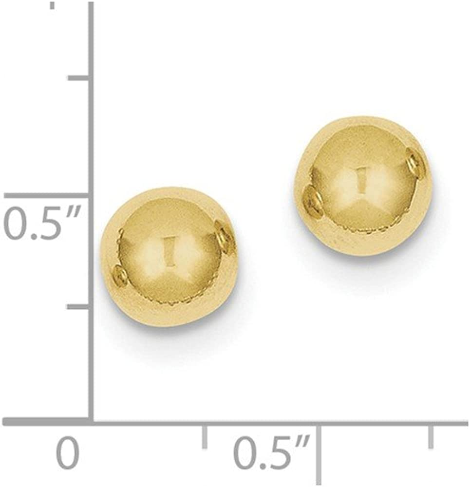 10k Yellow Gold 8mm Ball Post Stud Earrings Button Fine Jewelry For Women Gifts For Her