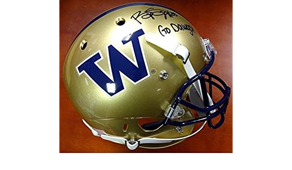 Amazon.com: Bishop Sankey Autographed Signed Schutt UW FS Helmet