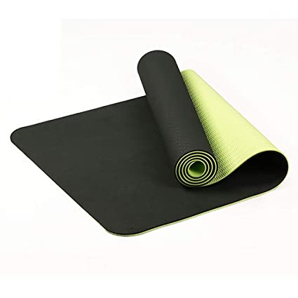 Amazon.com: Yoga Mat Two-Color TPE Tasteless Thickening ...