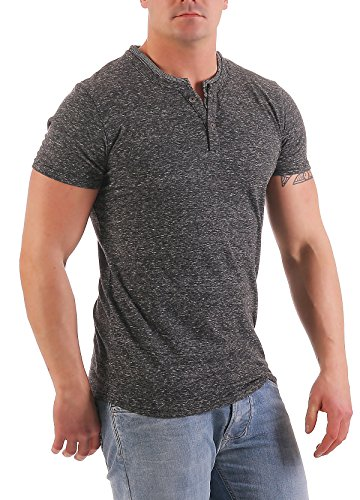 NO EXCESS Herren T-Shirt Double Y-Neck 80350208