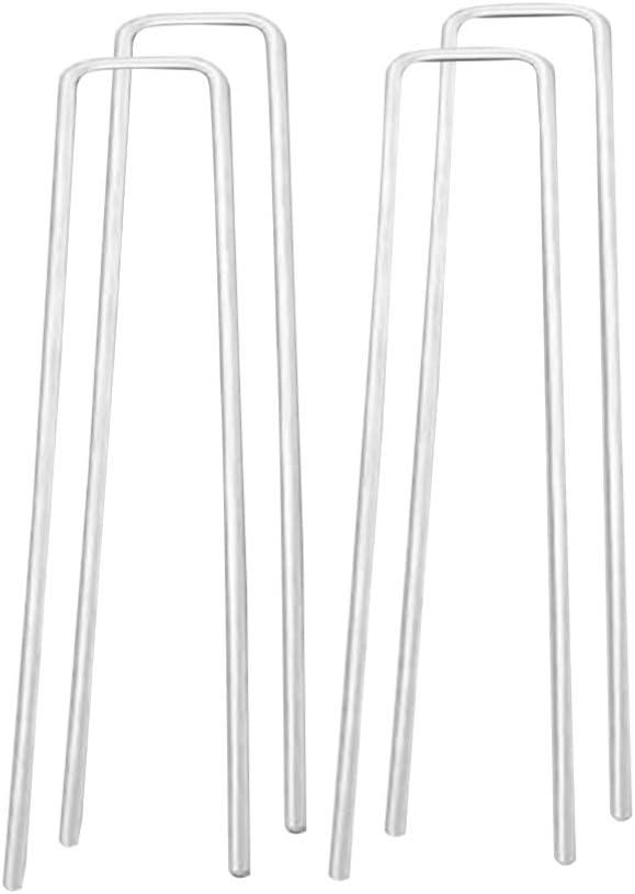 2 5 X 40 X 100 Mm Yardwe 100Pcs Piquets De Jardin en Agrafes Fixant La Pelouse U en Forme De Goupilles De Clou en Acier Jardin Piquets De Fixation pour La Maison en Plein Air