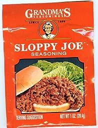 Grandma\'s Sloppy Joe Seasoning-12 Packets, 1 oz