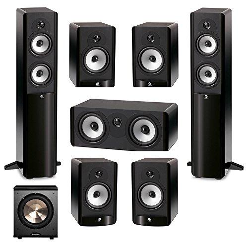 Boston Acoustics 7.1 System with 2 A250 Floorstanding Speakers, 1 A225C Center Channel Speaker, 4 A26 Bookshelf Speaker,