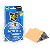 Raid Pantry & Flour Moth Trap, Set of 8 Pantry Moth Traps, Cabinet & Cupboard Moth Traps, Safe & Effective Pantry Moth Trap, Non-Toxic Kitchen Moth Trap, Insecticide-Free Pheromone Traps for Food Moth