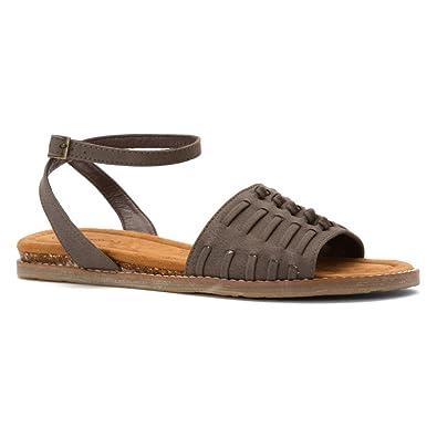 3adc72f01f03 BEARPAW Womens Amelia Open Toe Casual Slingback Sandals