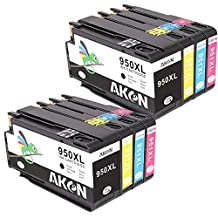 Aken 4Color (Black*2 Cyan*2 Magenta*2 Yellow*2) Replacement for HP 950XL 951XL Ink Cartridges Compatible with HP OfficeJet PRO 8600 8610 8620 8630 8100 8640 8660 8615 8625 251dw 271dw Printers