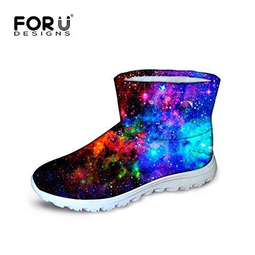 Awesome U Waterproof Galaxy Snow FOR Winter Flat Multi Warm Boots Women 3 DESIGNS ZEwxxvdqF