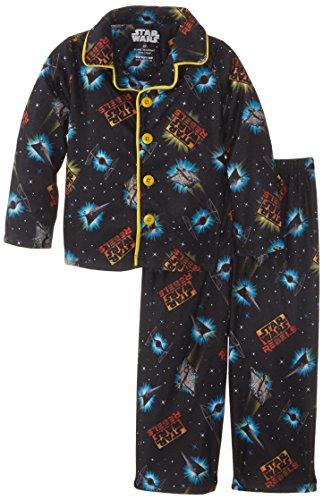 Star Wars Little Boys' Coat Pajama Set, Black, X-Small