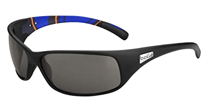 Bolle Recoil Sunglasses, Modulator Polarized Grey Oleo AF, Matte Blue/Stripes