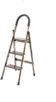 WYDM Escalera mecánica multifunción, Escalera Plegable portátil para el hogar, Escalera en Espiga, Escalera de Tijera de Aluminio de Tres Pasos Gruesos (120 * 72 * 64 * 49 cm): Amazon.es: Electrónica