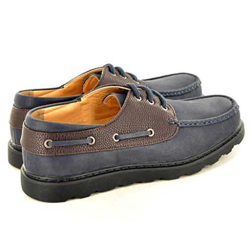 Coffee Men Schuhe Boot Deck bis Spitzen 's Navy New Casual zTZFdwqWd