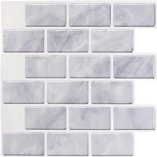 Amazoncom Juneslife Vinyl Wall Tiles Peel Stick 3d Wall Tiles Self
