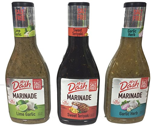 Mrs. Dash Marinade Salt-Free Pack of 3 Variety Pack 12oz
