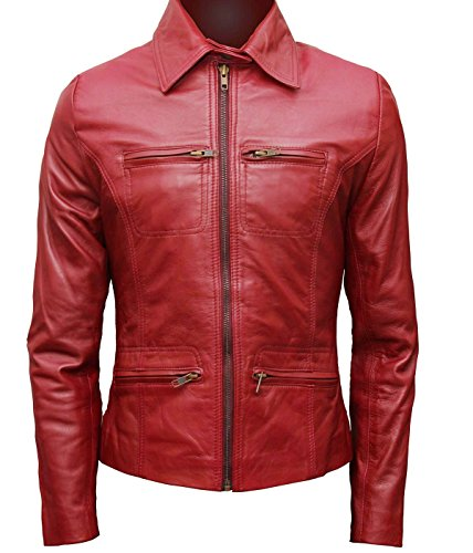Emma swan Cosplay Ideas red leather jacket for her S