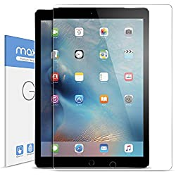 iPad Pro Screen Protector, Maxboost [Tempered Glass] Screen Protector For 12.9-inch Apple iPad Pro (2015)- 0.3mm Ballistics Glass Screen Case Protection 99% Touch Accurate Fit