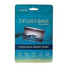 Noaks Bag XS   5 Piezas   Bolsa Seca - Embalaje Protector Impermeable - Bolsas con Cierre Zip   100% Impermeable hasta 10 m - protección contra olores - hermético