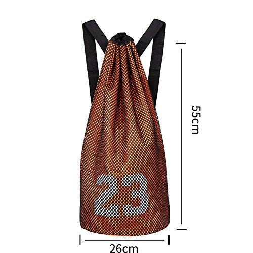 TaoMi- Bundle de lazo del bolso de hombro hombres y las mujeres del baloncesto ocasional Maleta de Mano ( Color : Verde ) Naranja