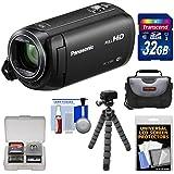 Panasonic HC-V380 Wi-Fi HD Video Camera Camcorder 32GB Card + Case + Flex Tripod + Kit